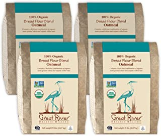 product image for Great River Organic Milling, Bread Flour Blend, Oatmeal Blend, Stone Ground, Organic, 5-Pounds (Pack of 4)