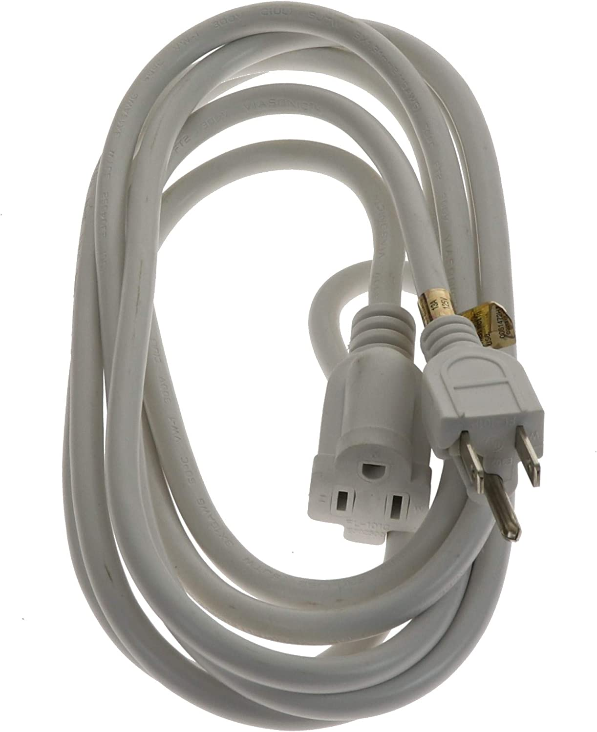 3-Prong UL-Listed by Unity 10FT 16 Gauge General Purpose 2, White Heavy Duty /& Durable Multi-Pack Viasonic Outdoor Extension Cord