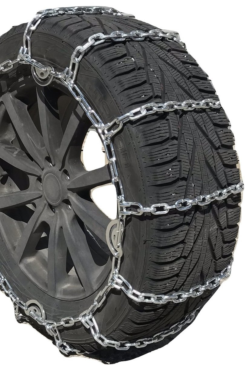 TireChain.com 2219sq Square Straight Link Truck Tire Chains with Cams, Priced per Pair