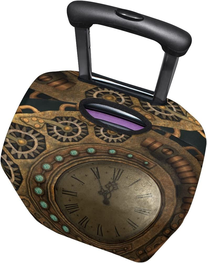 LEISISI Retro Clocks Luggage Cover Elastic Protector Fits XL 29-32 in Suitcase