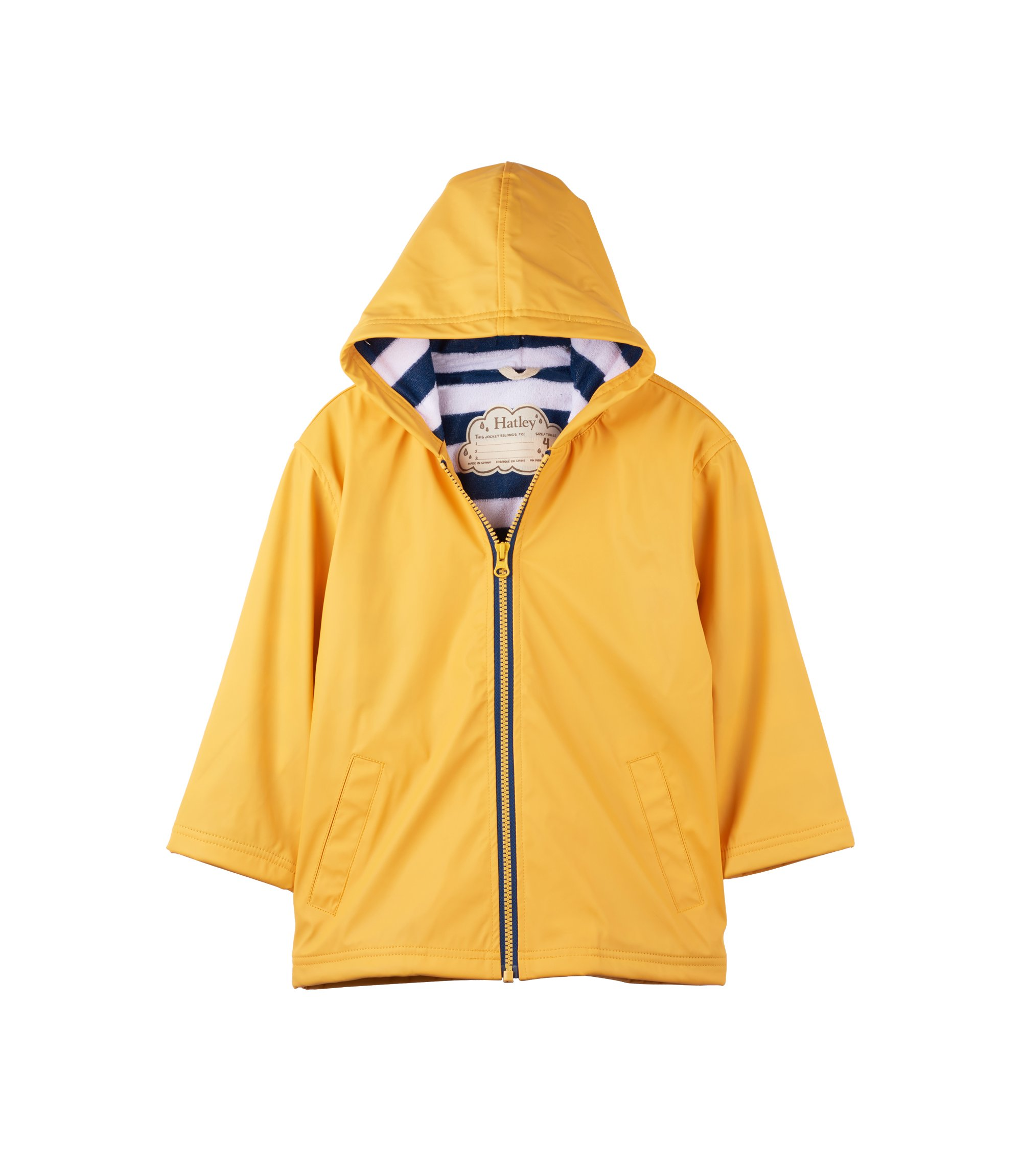 Hatley Boys' Little Splash Jacket, Classic Yellow, 6