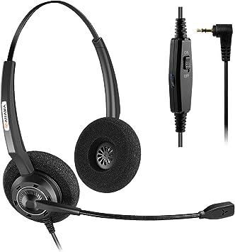 Arama - Auriculares de Diadema inalámbricos para teléfono Panasonic Jabra Cisco Polycom Zultys Gigaset DECT Polycom Grandstream (2,5 mm): Amazon.es: Electrónica
