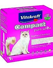 Vitakraft Compact Litière en Argile Pure White pour Chat