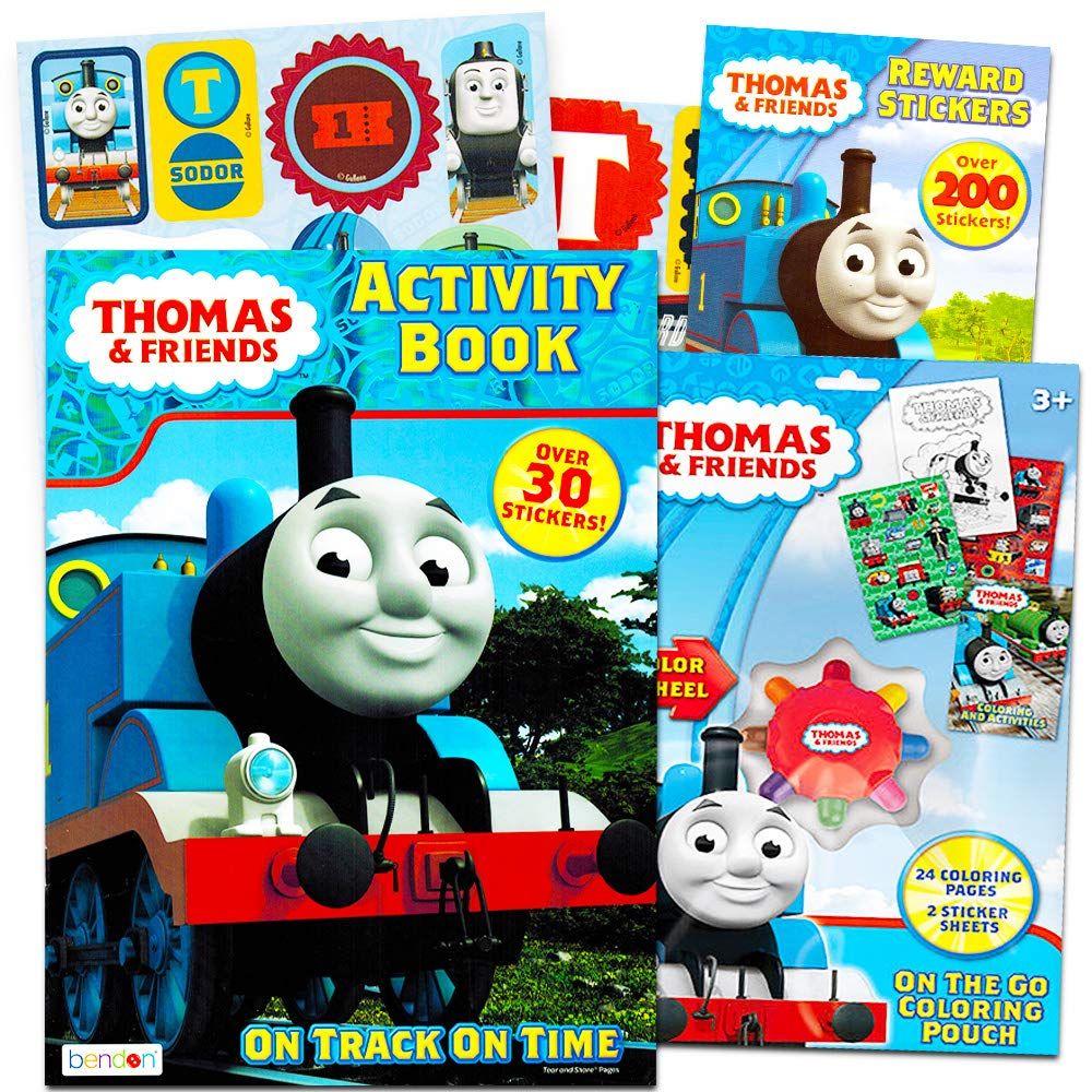 Amazon.com: Thomas the Train Coloring and Activity Book Set with ...
