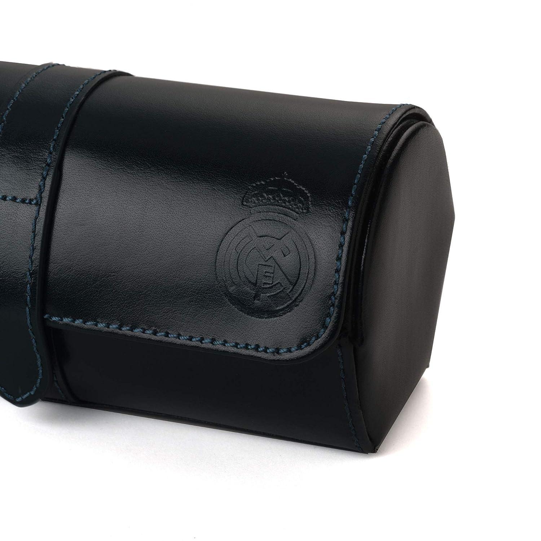 8c19df37c Real Madrid - Estuche Relojero de Viaje Hecho a Mano con Piel de Calidad  Premium. También para Pulseras. Color Azul RMJ-80010: Amazon.es: Hogar
