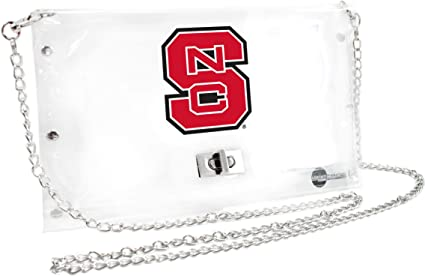 Inch 10 x 0.5 x 6.5 Littlearth Ohio State Buckeyes  NCAA Envelope Purse Clear
