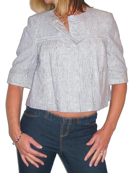 ICE - chaqueta blanca y azul de rayas - Color: azul - Talla: 38