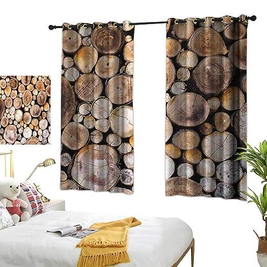 Cortinas De Dormitorio Rústicas Con Diseño De Flores De
