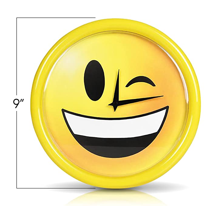Amazon.com: artcreativity Emoji reloj de pared por lindo 9 ...