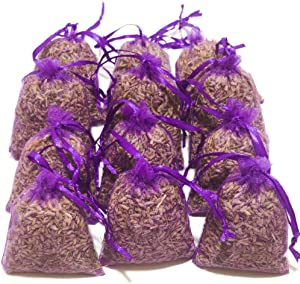 Laodicea Home | Purple Bags, Pack of 18 | Highest Fragrance Lavender Scent Sachets | Dried Lavender Flower Buds Sachets | Natural Deodorizer | Lavender Scented Sachets for Drawer and Closet