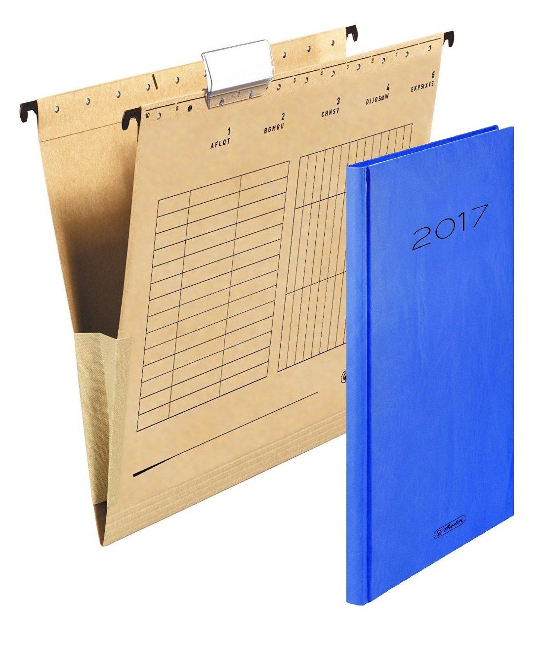 Herlitz 10843373 Hängetasche mit Leinenfröschen, A4, braun (4 Kartons = 100 Stück) B06XHQH9JM   Schnelle Lieferung