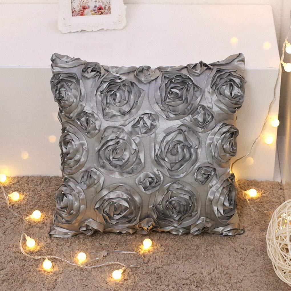 Sunlera Rose Flowe casa sofá Decorativo Throw Pillow Funda ...