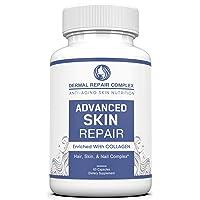 Dermal Repair Complex Skin Supplement - Advanced Collagen, Hyaluronic Acid and Vitamin...
