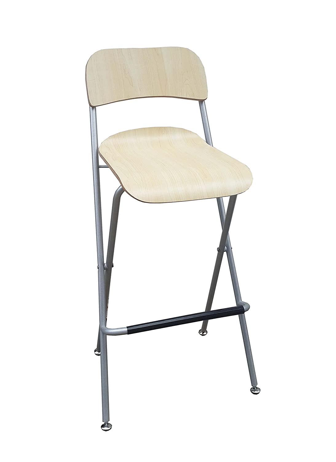 amazoncom fixture displays folding high chair bar stool folding wood metal chair twopack camping chairs grocery u0026 gourmet food