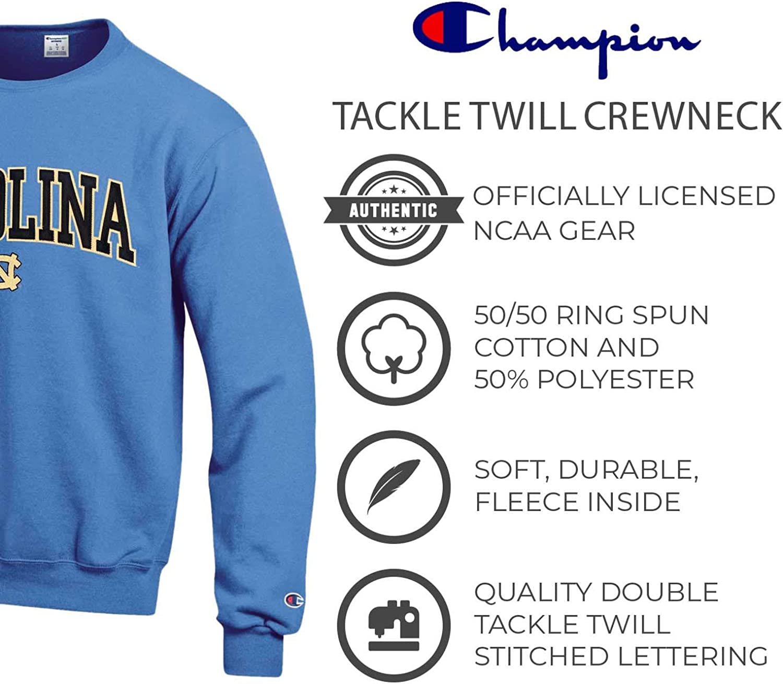 Officially Licensed Unisex NCAA Team Sweatshirt Champion Adult Tackle Twill Crewneck