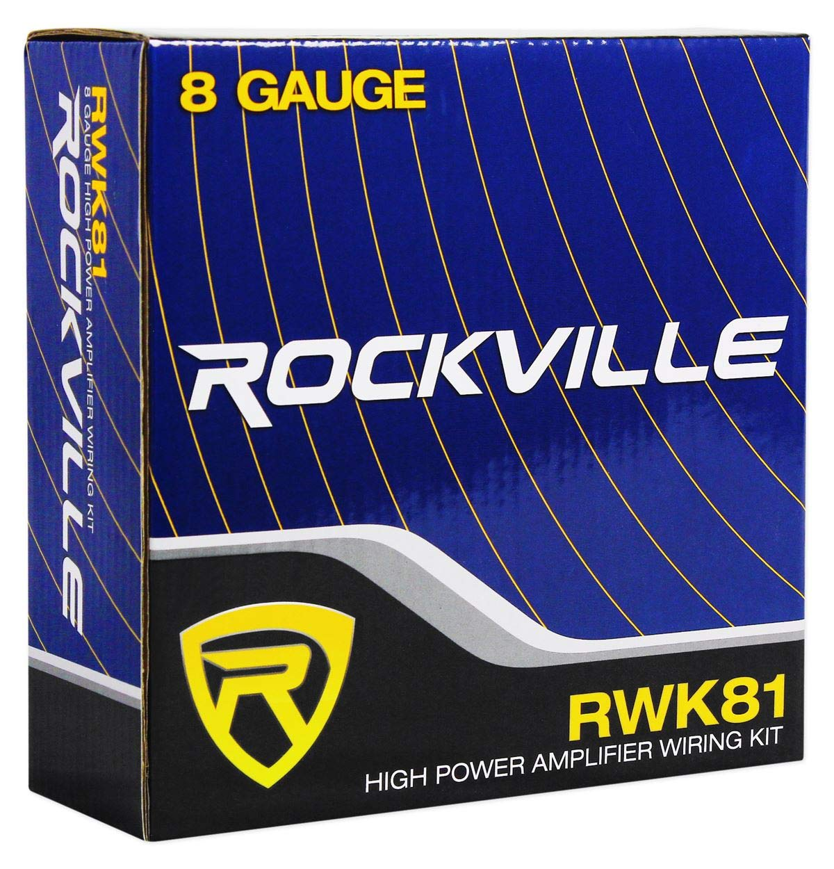 Rockville RWK81 8 Gauge Complete Amp Installation Wire Kit with 100/% Copper RCA