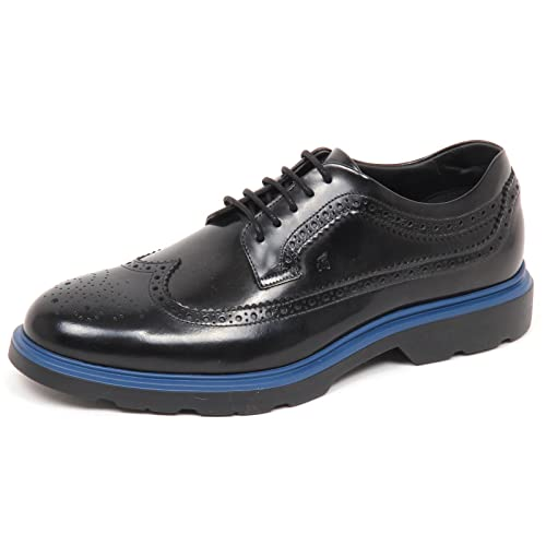 Hogan E3098 Scarpa Inglese Uomo Nero New Route Derby BUCATURE Shoe Man   10.5   Amazon.it  Scarpe e borse 96db8bc2901