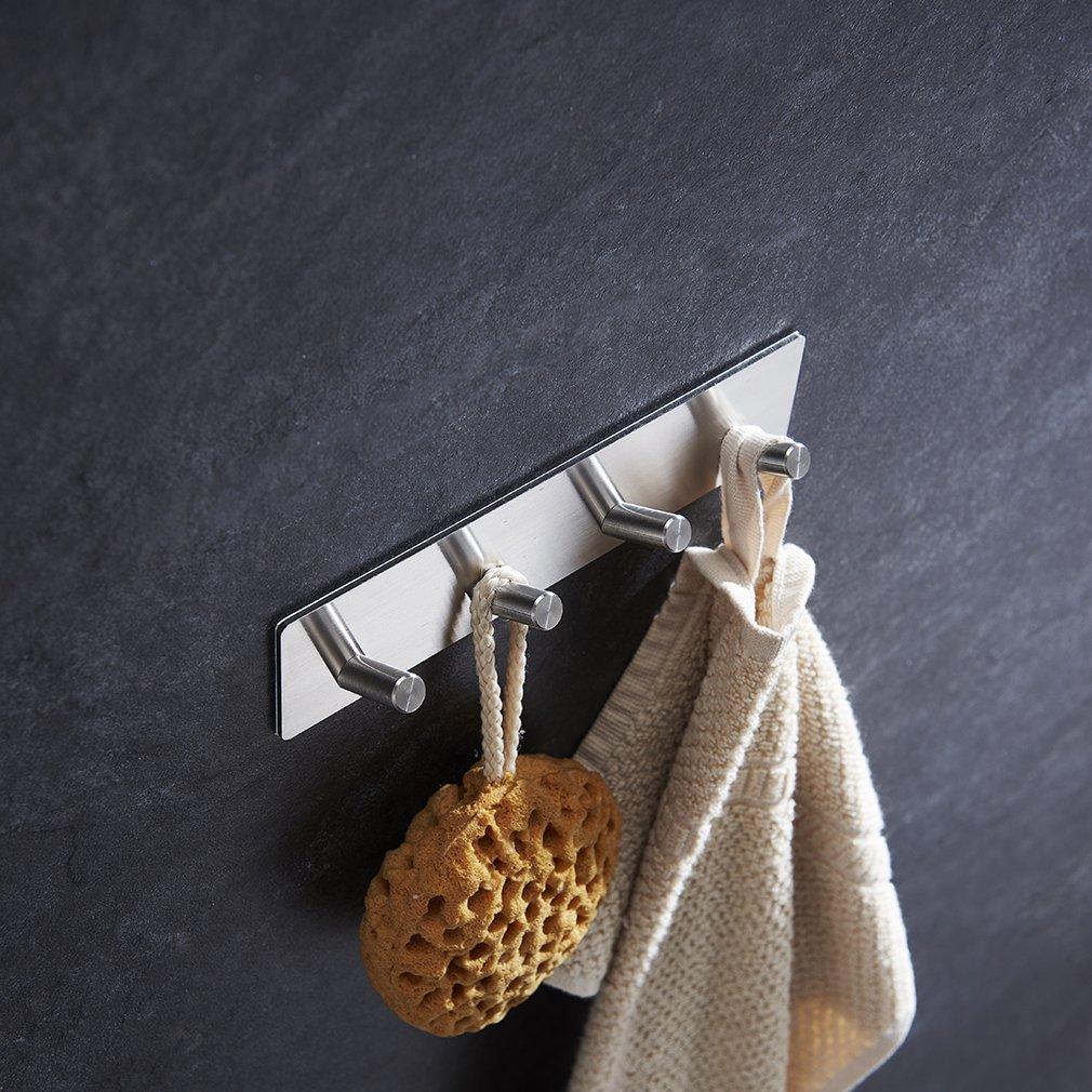 Amazon.com: cozime toalla de baño (Ganchos, 3 m Autoadhesivo ...