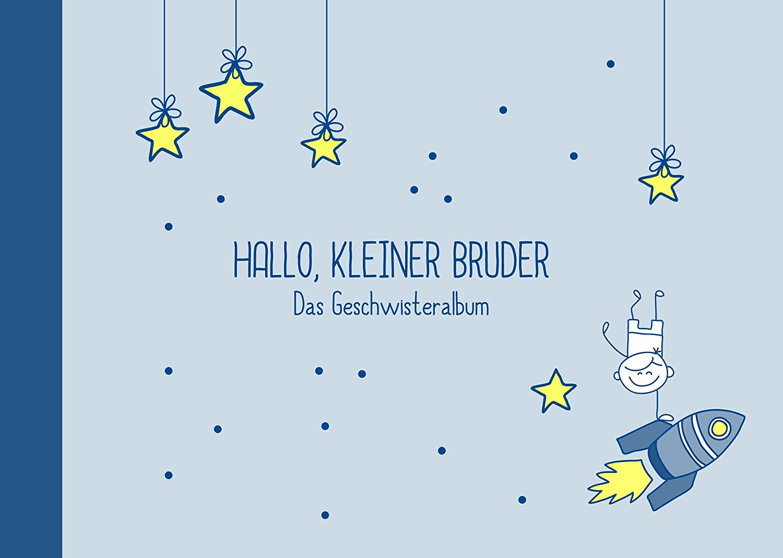 """Erinnerungsalbum/Fotoalbum für Geschwister zur Geburt:""""Hallo, kleiner Bruder""""-Buch (Öko, Recycling-Papier) Deko-und-Geschenke-Shop"""