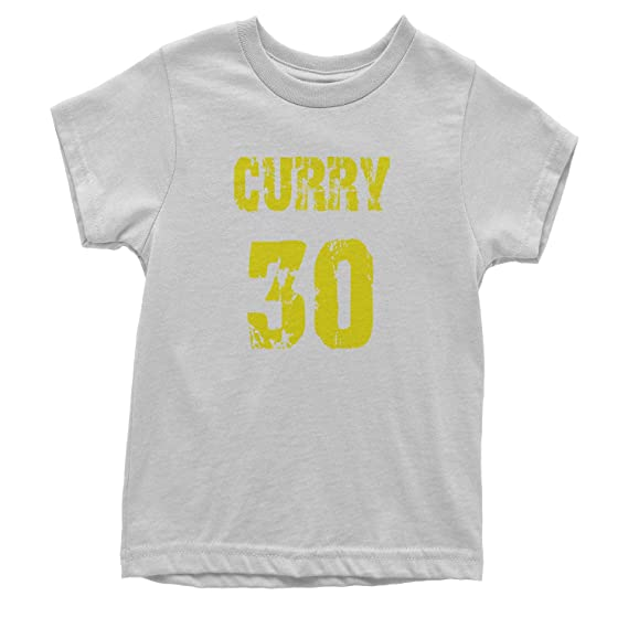 Expresión Tees Curry # 30 Baloncesto Juventud Camiseta - Blanco ...