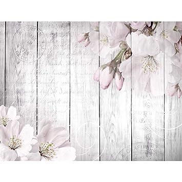 Fototapeten Blumen Grau 352 x 250 cm Vlies Wand Tapete Wohnzimmer ...