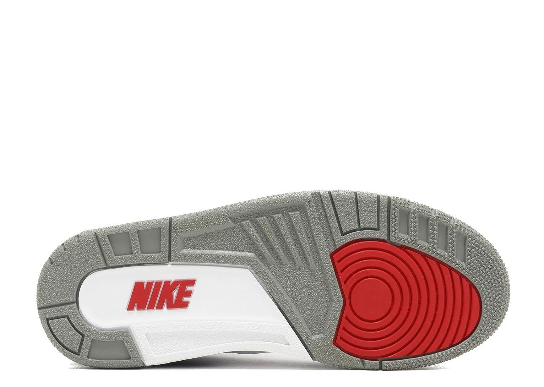 c1f2a4610f6 Amazon.com | Nike Men's Air Jordan 3 Retro OG White/Fire Red-true Blue-cement  Grey - 15 D(M) US | Basketball