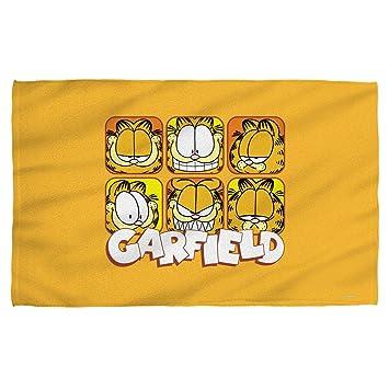 Serviette De Plage Garfield.Garfield Visages Serviette De Bain Blanc 27 X 52 Amazon Fr