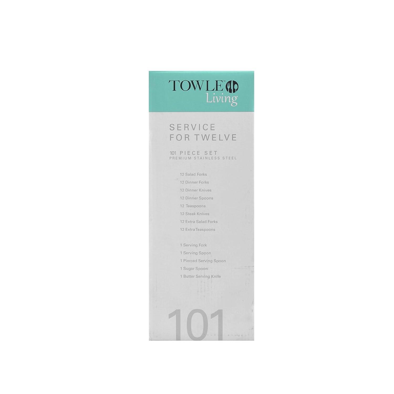Towle Living Hartford 101-Piece Flatware Set Lifetime Brands 5075442 DH5075442