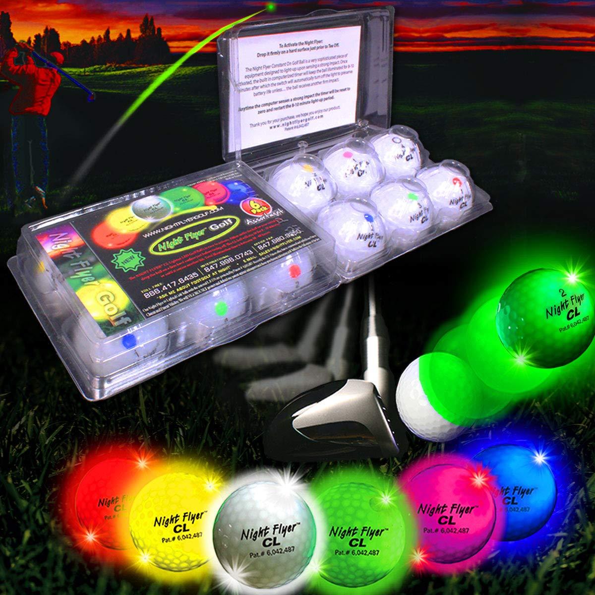 Night Flyer Lighted Golf Balls - 12 Ball Variety Pack by Night Flyer