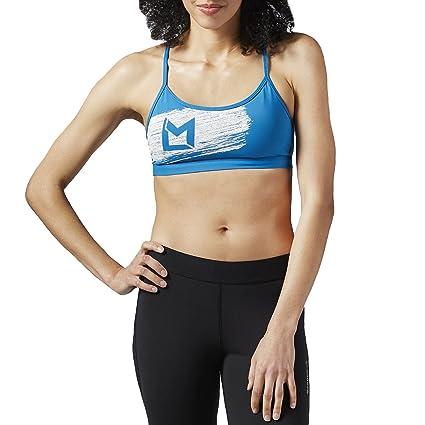 d98334db0d Amazon.com  Reebok Womens Les Mills Strappy Sports Bra  Sports ...