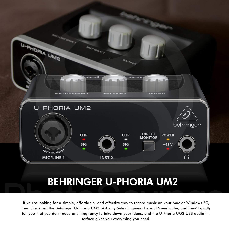 behringer u-phoria um2 usb driver
