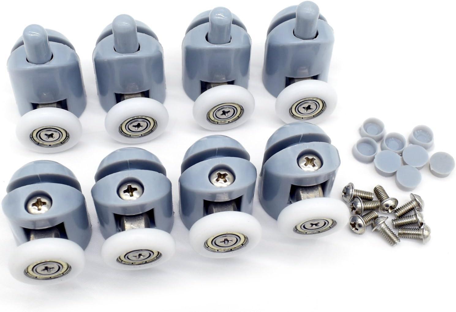 8 rodillos para puerta de ducha (25 mm): Amazon.es: Bricolaje y herramientas