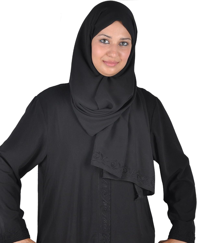 schwarz Egypt Bazar Klassische Abaya mit Kopftuch Farbe
