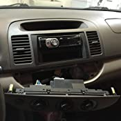 SCOSCHE TA1467B 2002-06 Toyota Camry Double DIN or DIN w//Pocket Install Dash Kit Factory Brackets Required