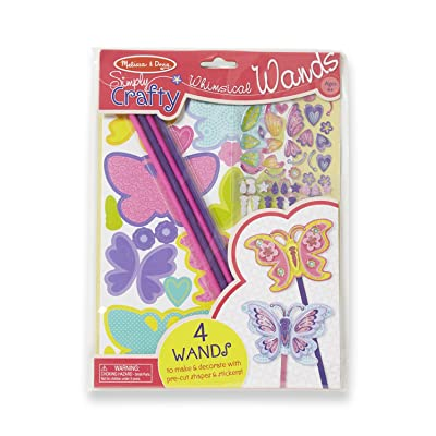 Melissa & Doug Simply Crafty Whimsical Wands Kit With Stickers, Pre-Cut Shapes, Foam Sticky Tabs (Great Gift for Girls and Boys - Best for 4, 5, 6, 7, 8 Year Olds and Up): Melissa & Doug: Toys & Games