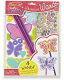 Melissa & Doug Simply Crafty Whimsical Wands Kit with Stickers, Pre-Cut Shapes, Foam Sticky Tabs