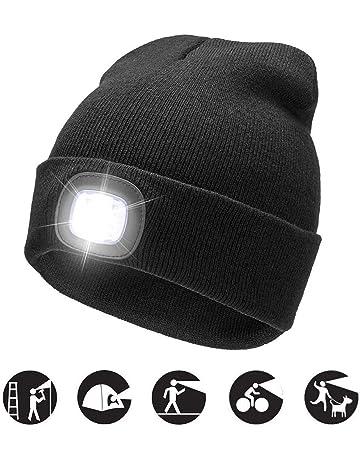 COZONE Cappello Illuminato Nuovo Beige Caldo Luminoso del LED Beanie Unisex  Cappello Ricaricabile del Faro Multifunzionale b3eae3fa7461
