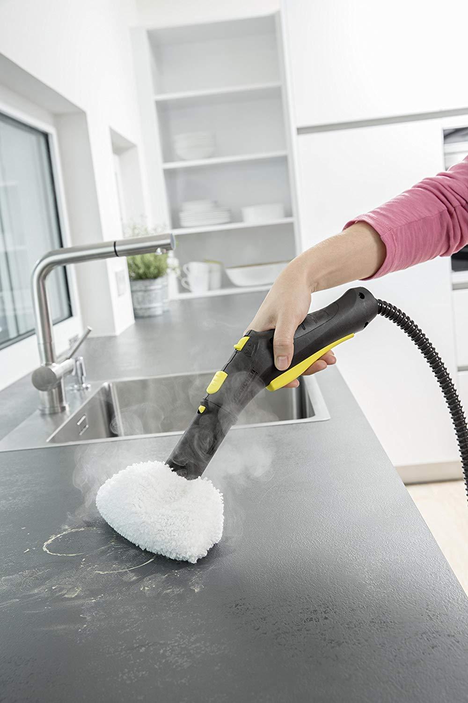 K/ärcher Limpiadora de Vapor Manual SC 5 EasyFix + Boquilla para limpieza de cristales 1.512-533.0 2.863-025.0 Kit Plancha