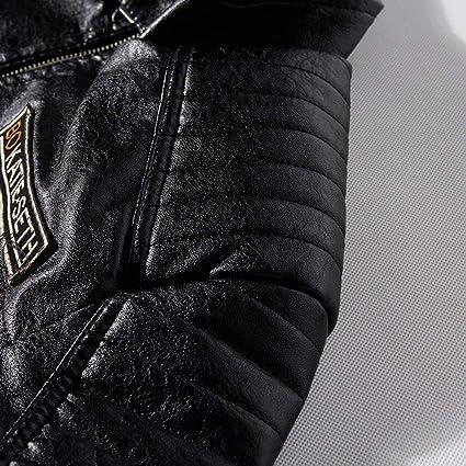 Amatop Men/'s Jacket-Motorcycle Jackets Leather Motorbike Jacket Biker Jacket Waterproof Jacket Plus Velvet Jacket for Men