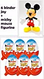 Chocolate Kinder Joy for Boys with Surprise Inside (6-Pack) with Mickey Mouse Figurine 5 Inches