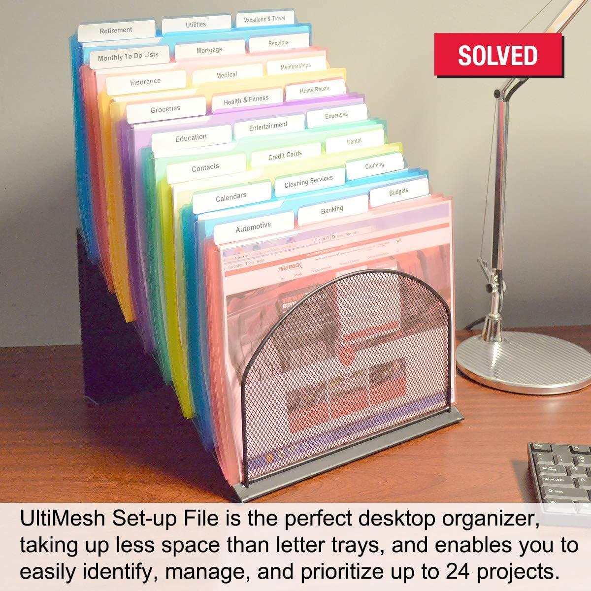 StepUp File Sorter Rack Includes 18 Ultimate Office 8 Section High ...