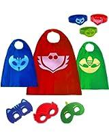 PJ Masks Costumes For Kids Catboy Owlette Gekko Mask Cape Bracelet