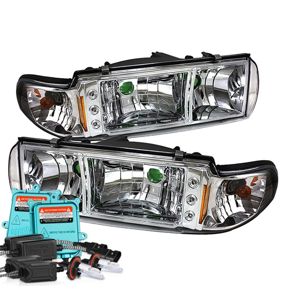 Amazon.com: VIPMOTOZ Metallic Chrome Headlight Assembly For 1991-1996 Chevy  Caprice & Impala SS, Driver and Passenger Side: Automotive
