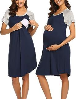 63c9d37af100b Ekouaer Women s Maternity Dress Nursing Nightgown for Breastfeeding  Nightshirt Sleepwear S-XXL
