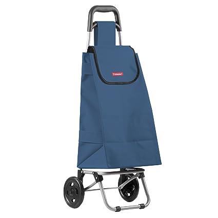 Plegable con Ruedas carro de compras mercado de comestibles azul marino ligero bolsa de almacenamiento