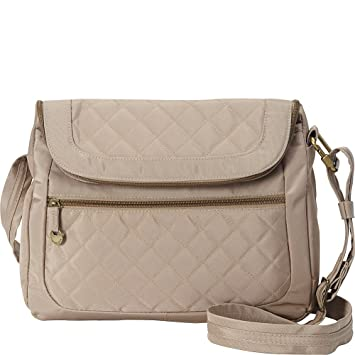 340c3e9d23f1 Travelon Anti-Theft Quilted Convertible Handbag with RFID Wallet (Champagne)