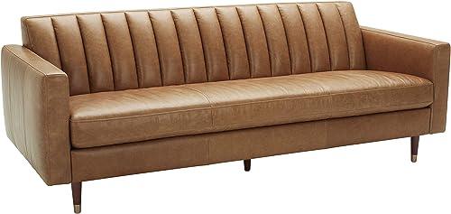 Amazon Brand Rivet Damien Mid-Century Modern Channel-Tufted Sofa