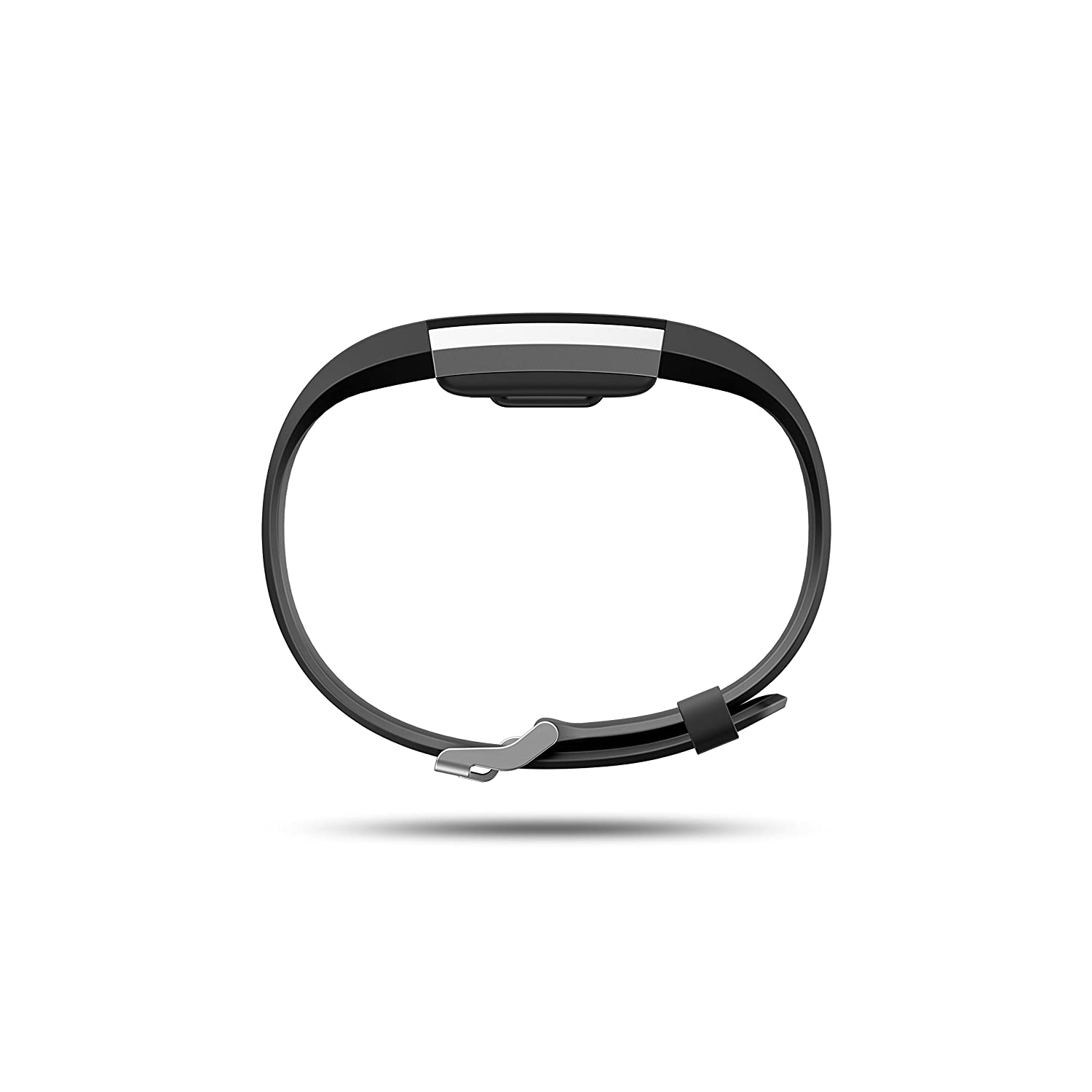 Fitbit Charge 2 Heart Rate Fitness Wristband, Black, Large US Version , 1 Count