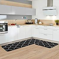 Alfombra para Sala de Estar Alfombrillas Set UArtlines Conjunto de 2 Alfombra de Cocina Decorativo Antideslizante Felpudo de Microfibra Alfombrilla de Ba/ño Ducha Rugs