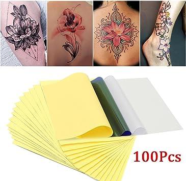 skymore 100 hojas papel para transferencia del tatuaje de papel ...
